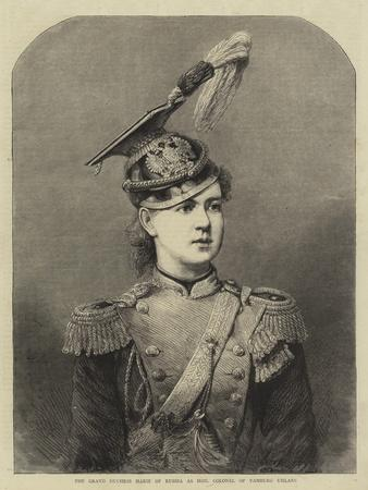 The Grand Duchess Marie of Russia as Honourable Colonel of Yamburg Uhlans