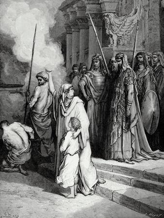 Bible. the Courage of a Mother of Maccabees. Illustration by Gustave Dore. II Maccabees