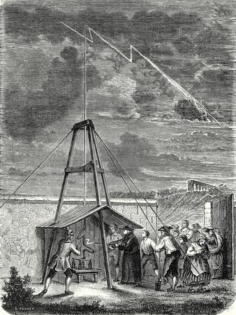 Dalibard's Scientific Experiment Conducted in Marly 10 May 1752. First Demonstration of the Presenc