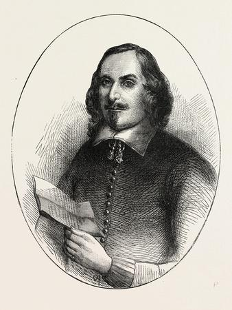 Edward Winslow, He Was a Separatist Who Traveled on the Mayflower in 1620, USA, 1870S