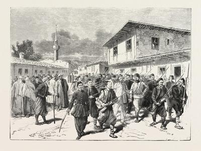 The War: a Party of Insurgents Being Conducted to Prison by the Turks, 1876
