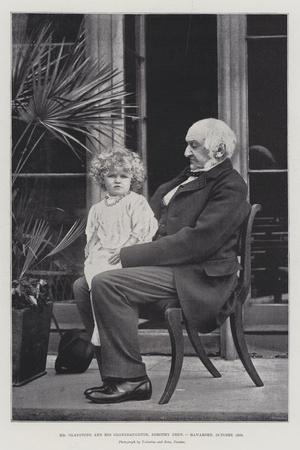 Mr Gladstone and His Granddaughter, Dorothy Drew, Hawarden, October 1893