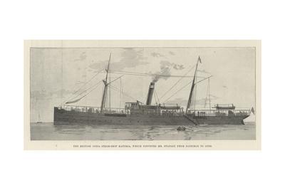 The British India Steam Ship Katoria, Which Conveyed Mr Stanley from Zanzibar to Suez