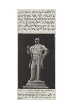 Statue of the Late Mr Bradlaugh, Mp, at Northampton, Sculptor, Mr George Tinworth