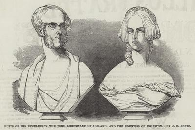 Busts of His Excellency the Lord-Lieutenant of Ireland, and the Countess of Eglinton, by J E Jones