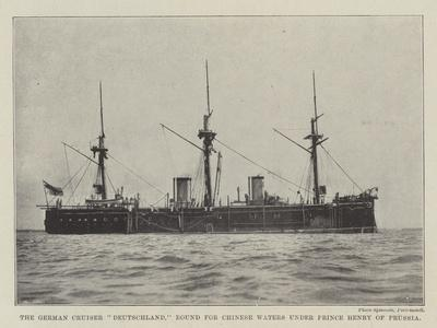 The German Cruiser Deutschland, Bound for Chinese Waters under Prince Henry of Prussia