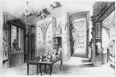 View of the Basement Ante Room, from the 'Description' of Soane's Museum, 1835