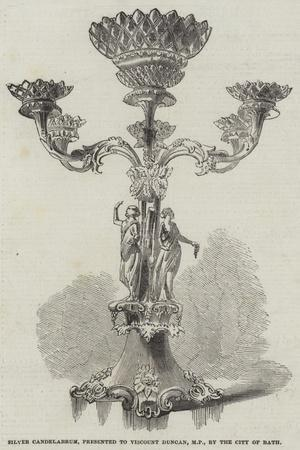 Silver Candelabrum, Presented to Viscount Duncan, Mp, by the City of Bath