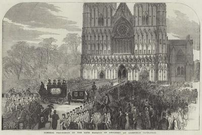 Funeral Procession of the Late Marquis of Anglesey at Lichfield Cathedral