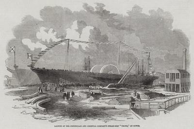 Launch of the Peninsular and Oriental Company's Steam-Ship Vectis, at Cowes