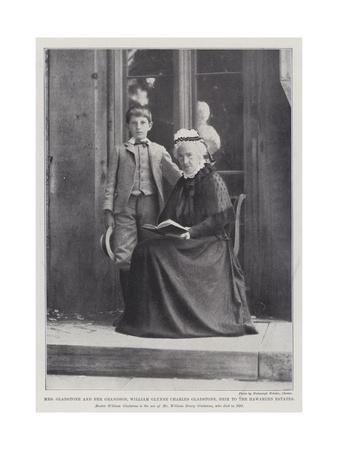 Mrs Gladstone and Her Grandson, William Glynne Charles Gladstone, Heir to the Hawarden Estates