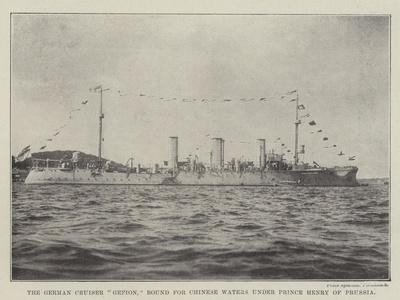 The German Cruiser Gefion, Bound for Chinese Waters under Prince Henry of Prussia