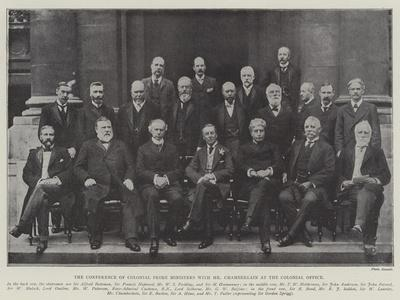 The Conference of Colonial Prime Ministers with Mr Chamberlain at the Colonial Office