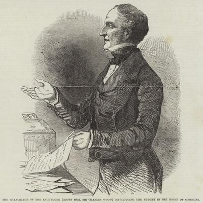 The Chancellor of the Exchequer (Right Honourable Sir Charles Wood) Introducing the Budget in the H