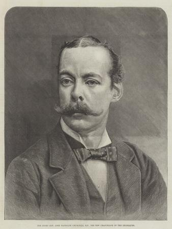 The Right Honourable Lord Randolph Churchill, Mp, the New Chancellor of the Exchequer