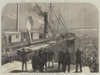 The Atlantic Telegraph Expedition, the Great Eastern Off Brighton on Her Return Home