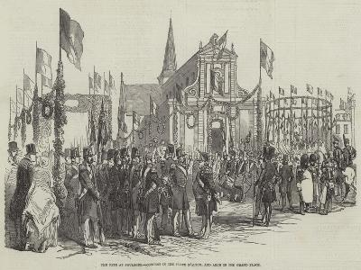 The Fete at Boulogne, Concert in the Place D'Alton, and Arch in the Grand Place