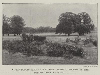 A New Public Park, Avery Hill, Eltham, Bought by the London County Council