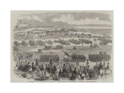 The Review of Rifle Volunteers by the Queen at Edinburgh, the Troops Marching Past Her Majesty