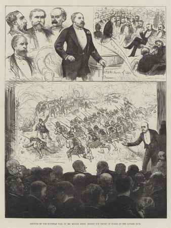 Lecture on the Egyptian War, by Mr Melton Prior before the Prince of Wales at the Savage Club