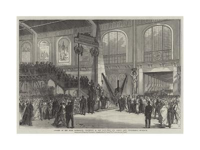 Opening of the Paris Exhibition, Procession in the Machinery and Useful Arts Department
