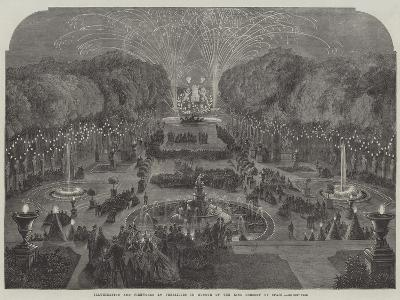 Illumination and Fireworks at Versailles in Honour of the King Consort of Spain