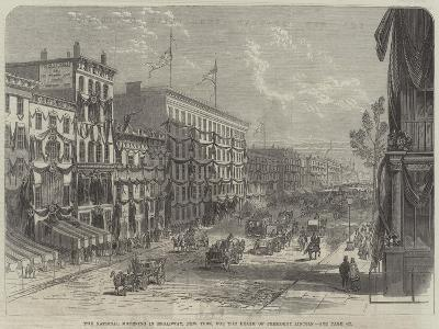 The National Mourning in Broadway, New York, for the Death of President Lincoln