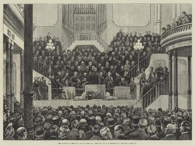 The State of Ireland, the Landlords' Meeting at the Exhibition Building, Dublin