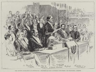 The British Association at Nottingham, Professor Burdon Sanderson Delivering the Inaugural Address