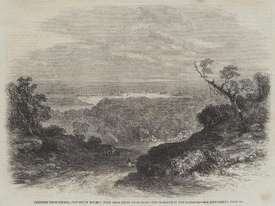 Sketches from Sydney, New South Wales, View from South Head Road, the Harbour in the Distance