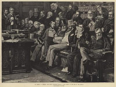 The House of Commons, the Front Opposition Bench, a Late Sitting at the End of the Session