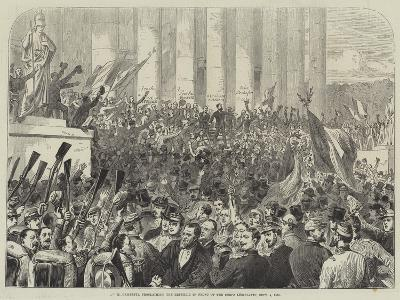 M Gambetta Proclaiming the Republic in Front of the Corps Legislatif, 4 September 1870