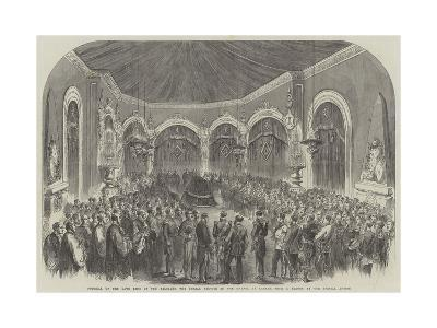 Funeral of the Late King of the Belgians, the Burial Service in the Chapel at Laeken