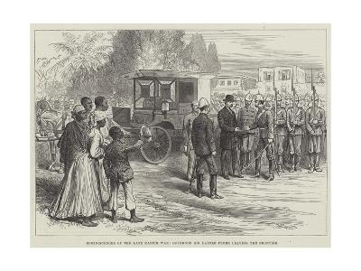 Reminiscences of the Late Kaffir War, Governor Sir Bartle Frere Leaving the Frontier