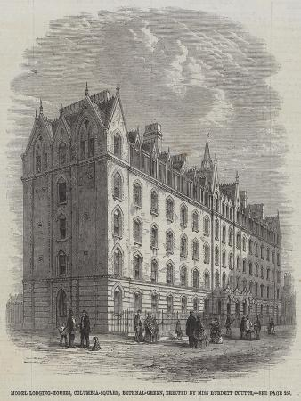Model Lodging-Houses, Columbia-Square, Bethnal-Green, Erected by Miss Burdett Coutts