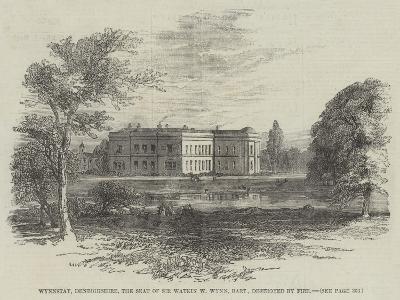 Wynnstay, Denbighshire, the Seat of Sir Watkin W Wynn, Baronet, Destroyed by Fire