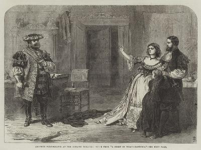 Amateur Performance at the Adelphi Theatre, Scene from A Sheep in Wolf's Clothing