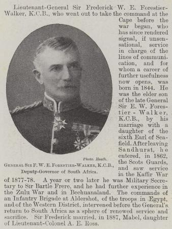 General Sir F W E Forestier-Walker, Kcb, Deputy-Governor of South Africa
