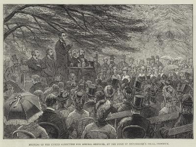 Meeting of the United Committee for Special Services, at the Duke of Devonshire's Villa, Chiswick