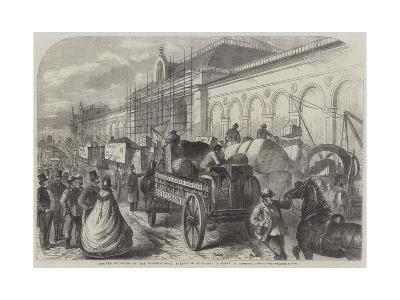 Arrival of Goods at the International Exhibition Building, a Scene in Cromwell-Road