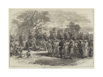 India and the Prince of Wales, a Tiger-Hunting Party in India, Preparing to Start