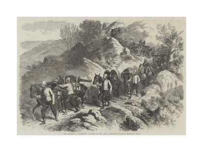 The Abyssinian Expedition, Return of the Army from Magdala, the Mountain Train