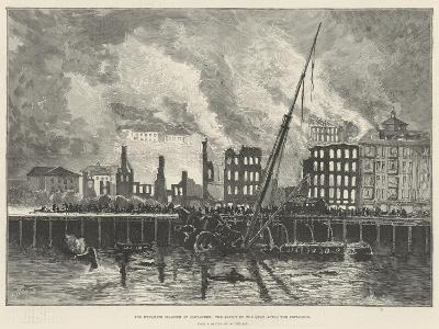 The Dynamite Disaster at Santander, the Aspect of the Quay after the Explosion