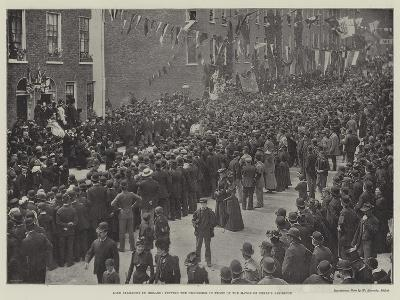 Lord Salisbury in Ireland, Viewing the Procession in Front of the Mayor of Derry's Residence