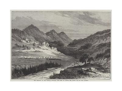 The Campaign on the Punjaub Frontier, the Camp in Agrore, the Soosal Pass in the Distance
