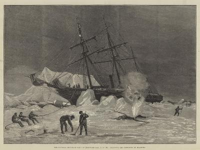 The Pandora Nipped in the Ice (Melville Bay, 24 July), Relieving the Pressure by Blasting