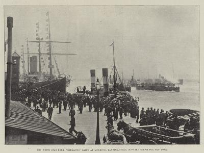 The White Star Rms Germanic, Lying at Liverpool Landing-Stage, Outward Bound for New York