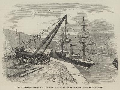 The Livingstone Expedition, Shipping the Sections of the Steam-Launch at Birkenhead