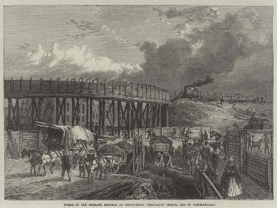 Works of the Midland Railway at King'S-Cross, Temporary Bridge, Old St Pancras-Road
