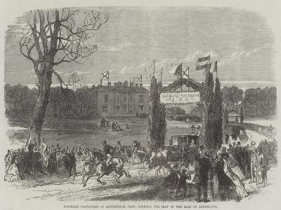 Marriage Festivities at Quiddenham Park, Norfolk, the Seat of the Earl of Albemarle